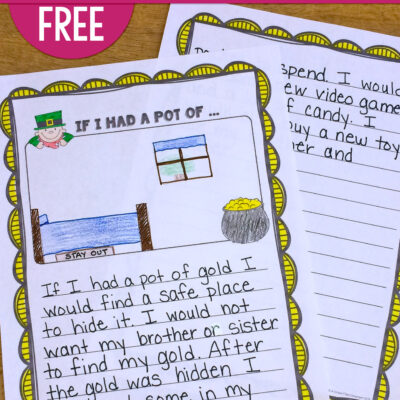 Get Students Writing with this Saint Patrick's Day FREEBIE