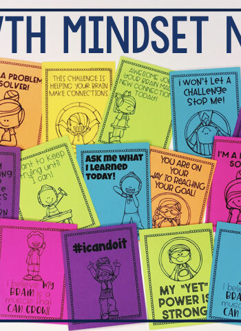 growth mindset notes to encourage and motivate students