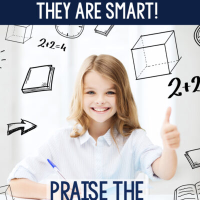 STOP: Don't tell your students they are smart!