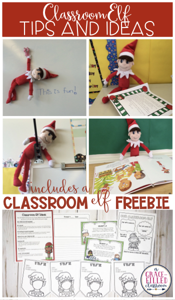 "FREE Christmas Elf Resources for your primary classroom! Student s can make themselves into elves with the s""elf""ie banner, write about their elf, and more!"
