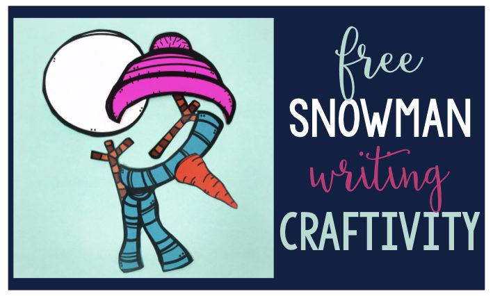 snowman freebie snowman craftivity January Freebie