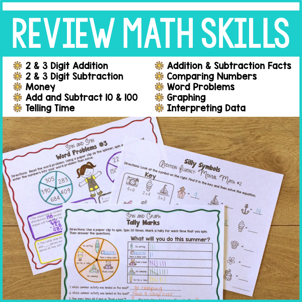 End of Year Math Review 2nd grade