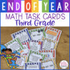 end of year math task cards 3rd