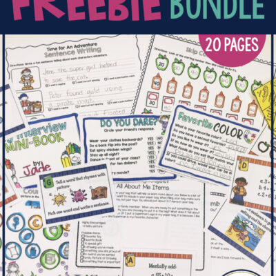 back to school freebie 2nd grade and 3rd grade