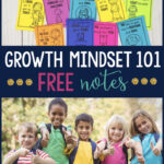 children smiling showing a thumbs up, free growth mindset notes