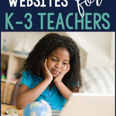 Distance Learning Websites for K-3 Teachers