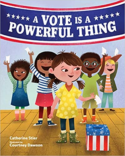 """cover of the book """"A vote is a Powerful Thing"""""""