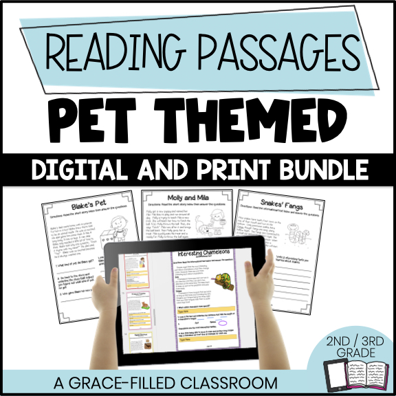 product cover Pet Themed 20 Reading Passages